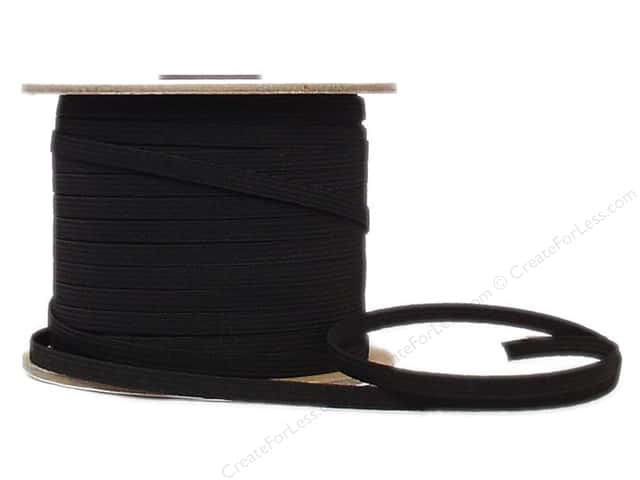 Conrad Jarvis Braided Flat Elastic 1/4 in x 120 yd Black (120 yards)