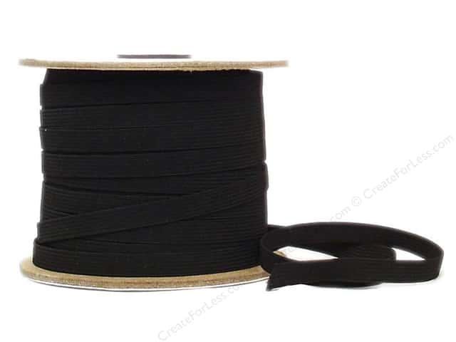 Conrad Jarvis Braided Flat Elastic 3/8 in x 70 yd Black (70 yards)