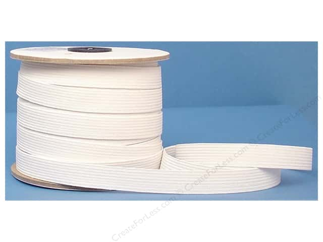 Conrad Jarvis Braided Flat Elastic 5/8 in x 40 yd White (40 yards)