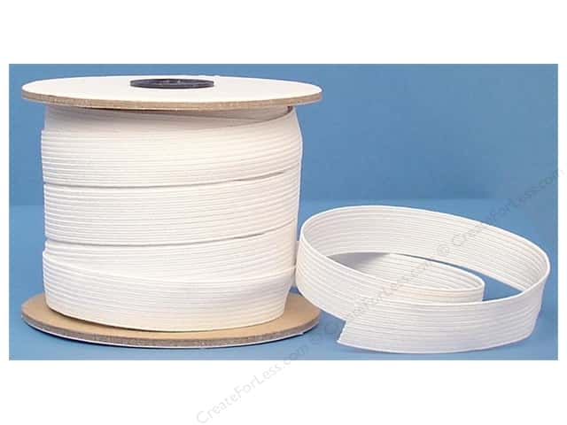 Conrad Jarvis Braided Flat Elastic 3/4 in x 30 yd White (30 yards)