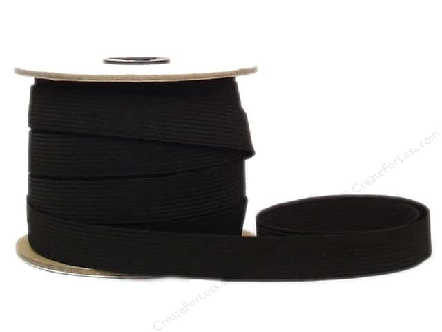 Conrad Jarvis Braided Flat Elastic 3/4 in x 30 yd Black (30 yards)