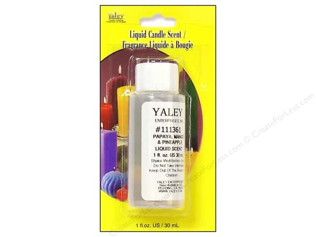 Yaley Liquid Candle Scent 1 oz. Papaya/Mango/Pineapple
