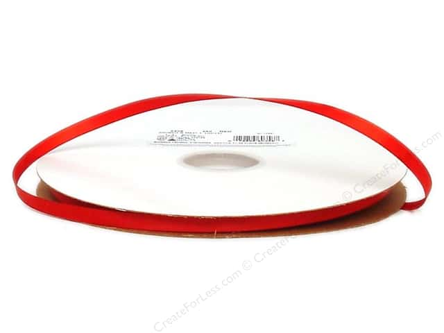 Offray Double Face Satin Ribbon 1/4 in. x 100 yd. Red