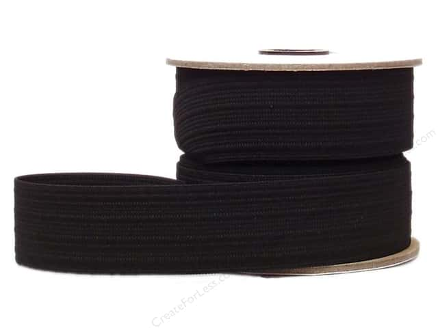 Conrad Jarvis Sport Elastic Reel 1 1/2 in x 15 yd Black (15 yards)