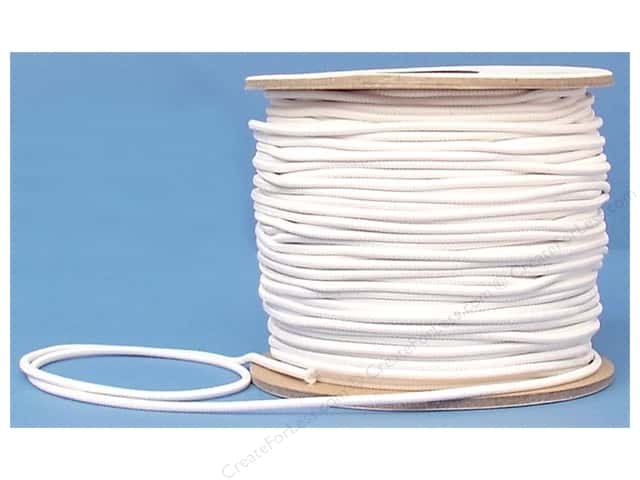 Conrad Jarvis Round Elastic Cord Reel 1/8 in x 120 yd White (120 yards)