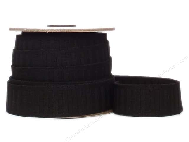 Conrad Jarvis No Roll Elastic Reel 1 1/4 in x 12 yd Black (12 yards)