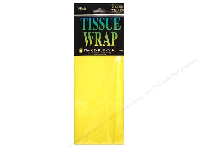 Tissue Paper by Cindus 20 x 20 in. Solid Canary Yellow 10 pc.