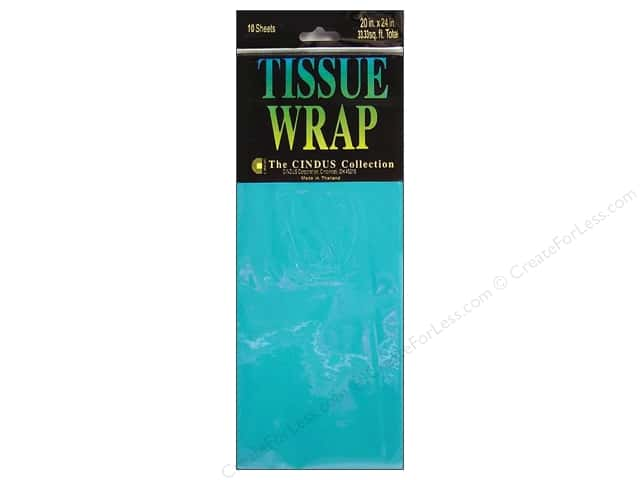 Tissue Paper by Cindus 20 x 20 in. Solid Turquoise 10 pc.