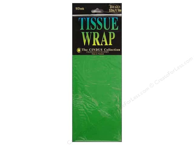 Tissue Paper by Cindus 20 x 20 in. Solid Emerald Green 10 pc.