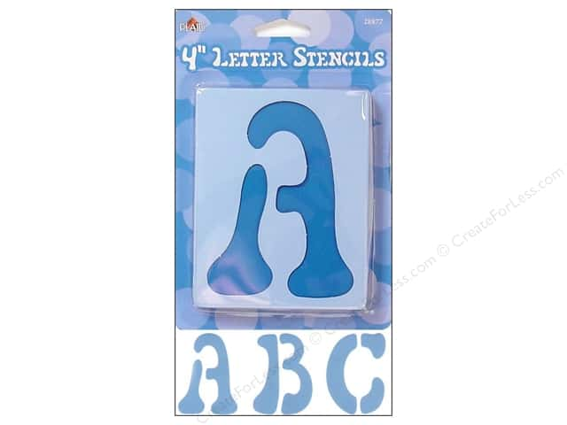 Plaid Alphabet Stencils Upper Case 4 in. Disco