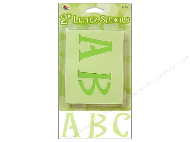 Plaid Alphabet Stencils Upper Case 2 in. Genie