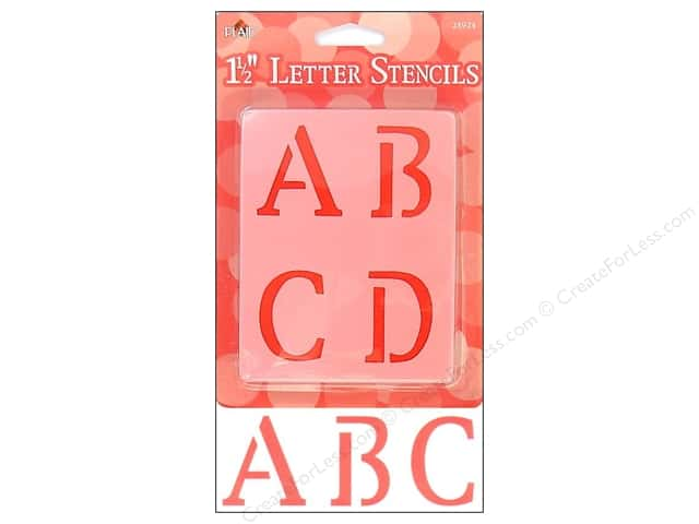 Plaid Alphabet Stencils 1 1/2 in. Upper Case Old School