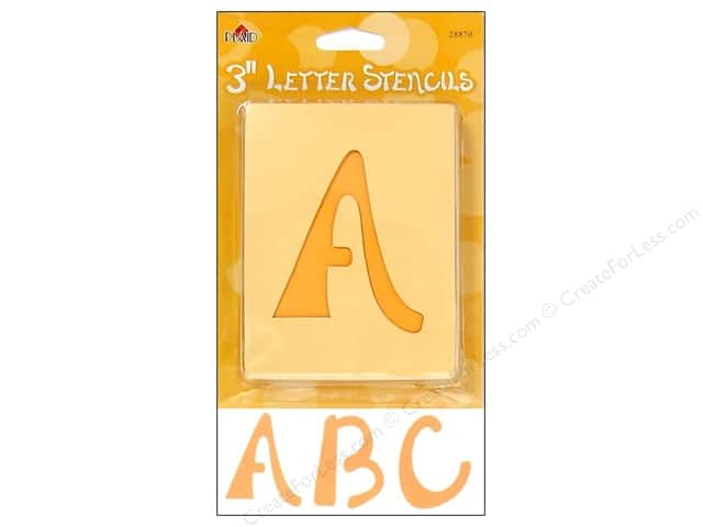 Plaid Alphabet Stencils Upper Case 3 in. Swashbuckle