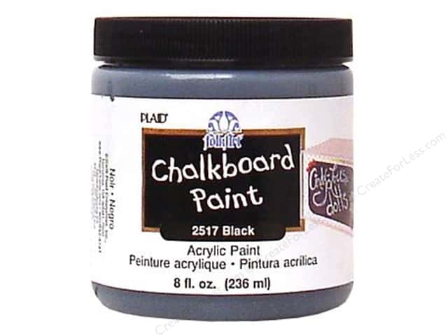 Plaid FolkArt Chalkboard Paint 8 oz. Black