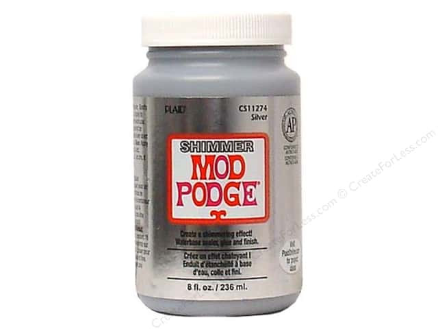 Plaid Mod Podge Shimmer Metallic Silver 8oz