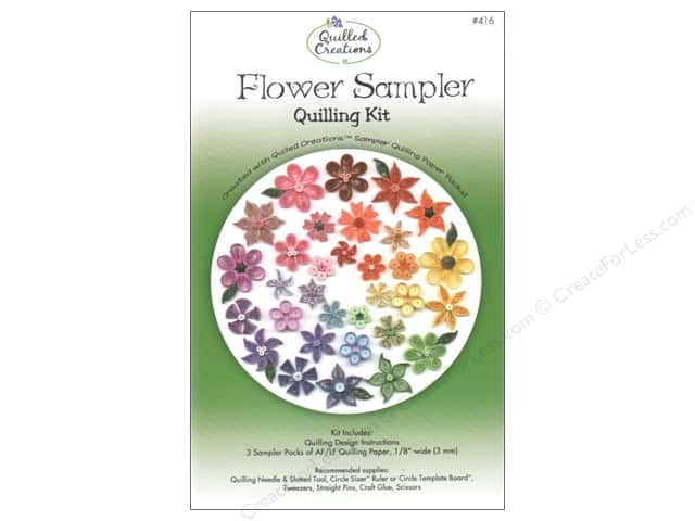 Quilled Creations Quilling Kit Flower Sampler