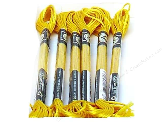 DMC Satin Embroidery Floss #S3820 Buttercup (6 skeins)