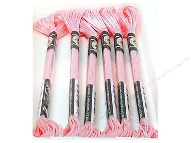 DMC Satin Embroidery Floss #S818 Powder Pink (6 skeins)