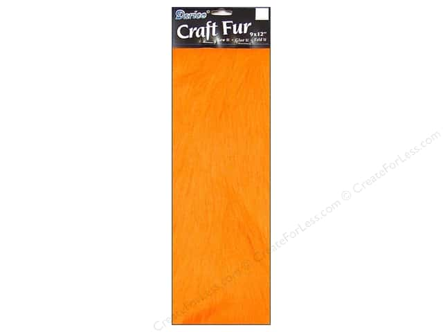 Darice Long Pile Fur 9 x 12 in. Orange