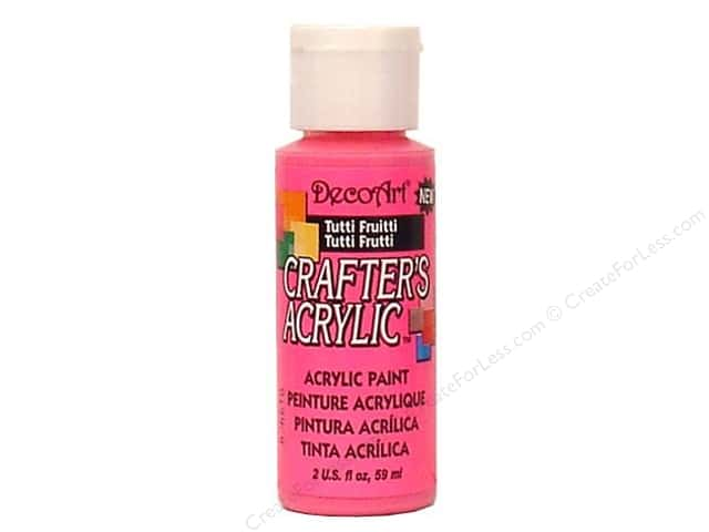 DecoArt Crafter's Acrylic Paint 2 oz. #120 Tutti Fruitti