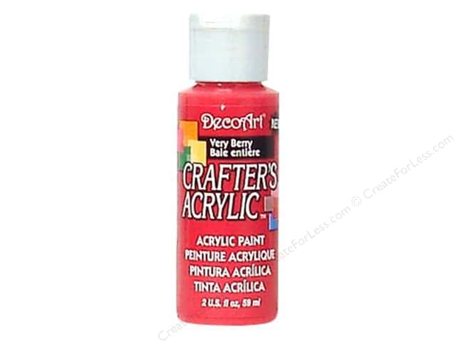 DecoArt Crafter's Acrylic Paint 2 oz. #121 Very Berry