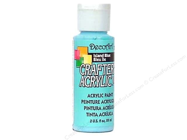 DecoArt Crafter's Acrylic Paint 2 oz. #123 Island Blue
