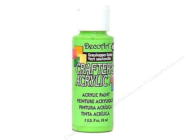 DecoArt Crafter's Acrylic Paint 2 oz. #125 Grasshopper Green