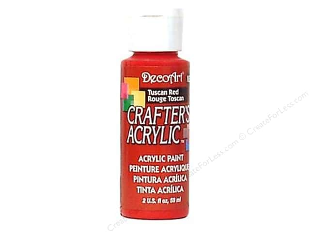 DecoArt Crafter's Acrylic Paint 2 oz. #126 Tuscan Red