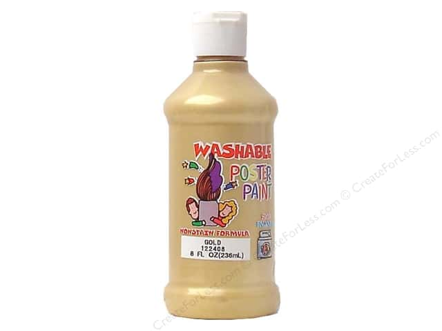 Palmer Washable Poster Paint 8oz Gold