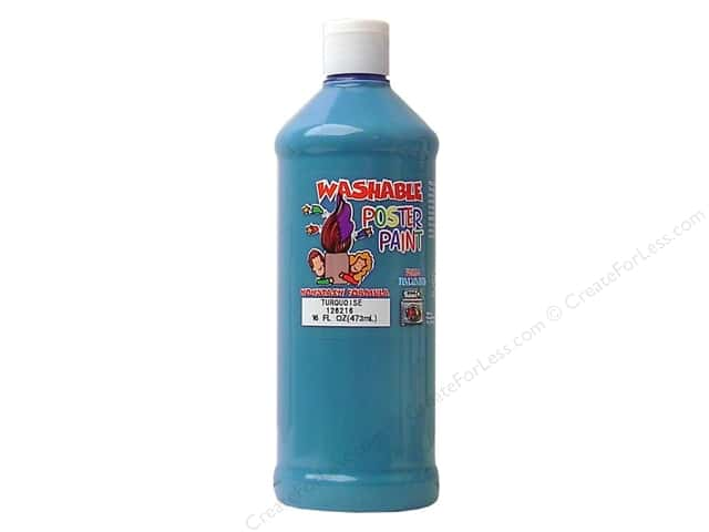Palmer Washable Poster Paint 16oz Turquoise