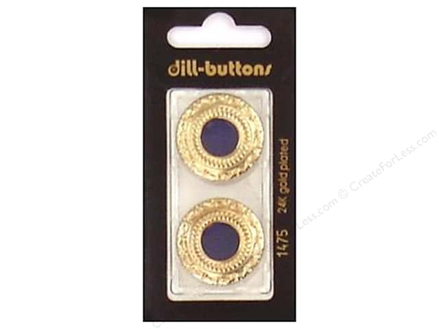 Dill Shank Buttons 1 in. Enamel Navy/Gold #1475 2 pc.