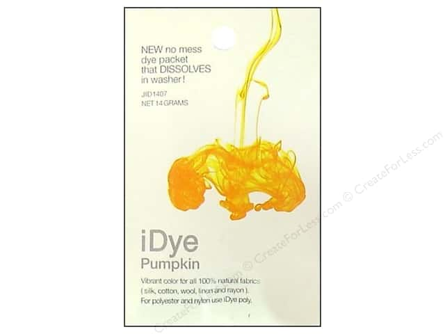 Jacquard iDye Natural Fabrics Pumpkin 14 grams