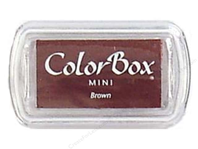 ColorBox Pigment Ink Pad Mini Size Brown