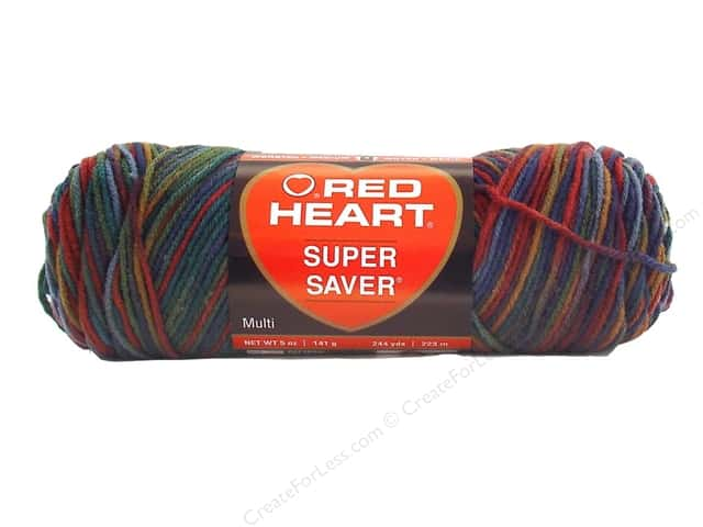 Red Heart Super Saver Yarn #0788 Williamsburg Print 244 yd.