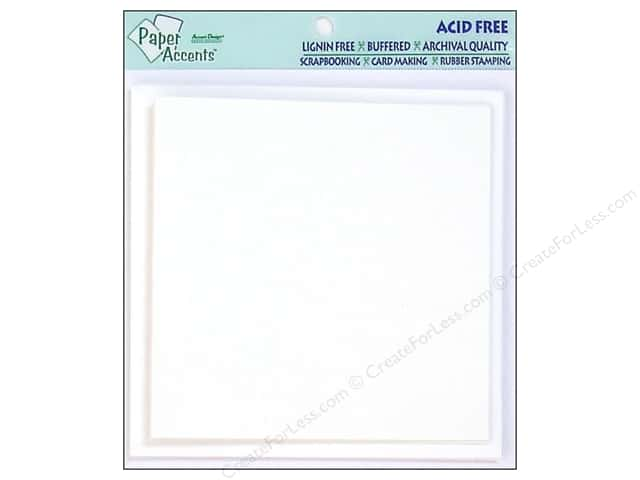 5 x 5 in. Blank Card & Envelopes by Paper Accents 5 pc. White