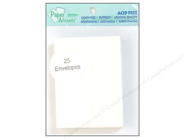 2 1/2 x 3 1/2 in. Envelopes by Paper Accents 25 pc. #128 White