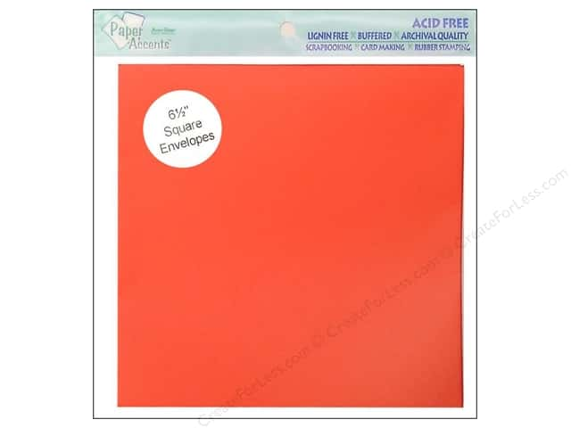 6 1/2 x 6 1/2 in. Envelopes by Paper Accents 10 pc. #101 Red