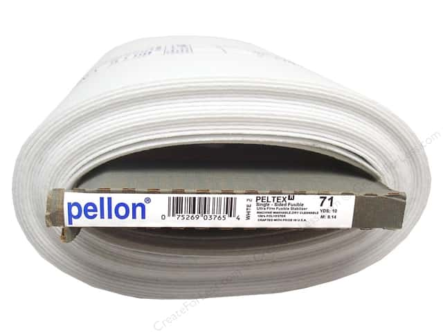 Pellon Peltex I Single-Sided Ultra Firm Fusible Stabilizer 20 in. x 10 yd. White (10 yards)