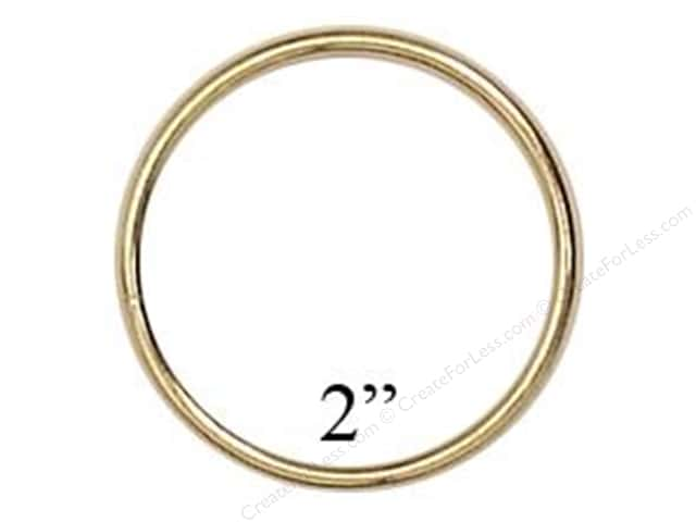 Darice Brass Metal Rings 2 in.