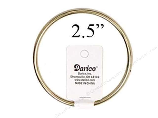 Darice Brass Metal Rings 2 1/2 in.