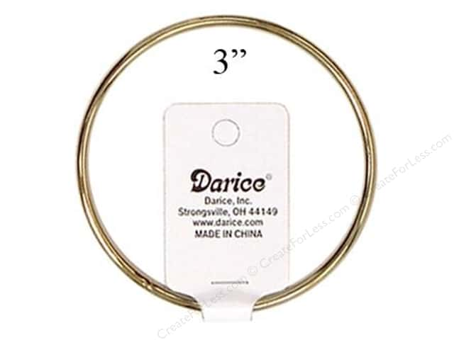 Darice Brass Metal Rings 3 in. (12 pieces)