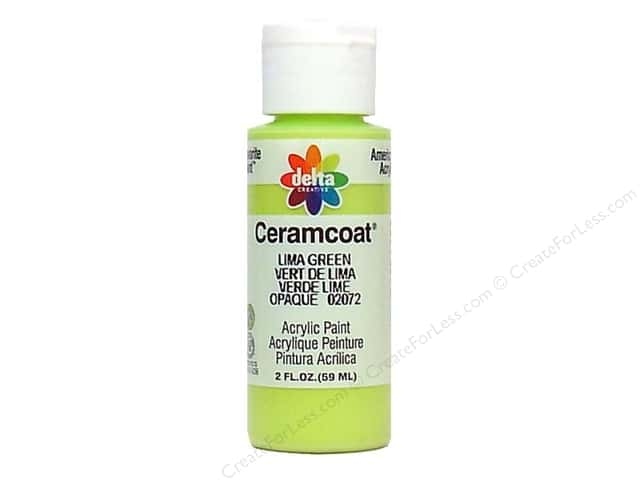 Ceramcoat Acrylic Paint by Delta 2 oz. #2072 Lima Green