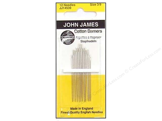 John James Needle Darner Cotton Size 3-9 12 pc