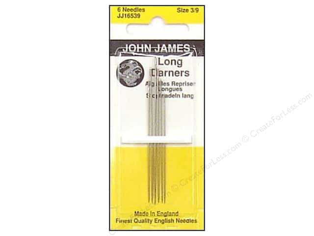 John James Needle Darner Long Size 3-9 6 pc