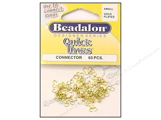 Beadalon Quick Links Connectors Small Gold 65 pc.