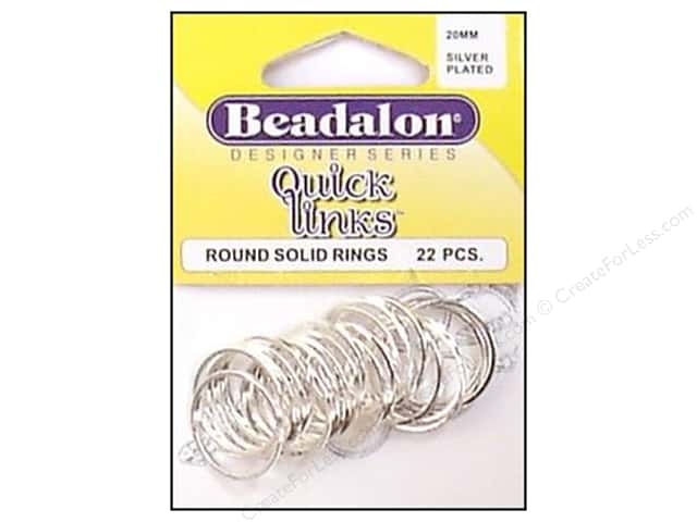 Beadalon Quick Links Round 20 mm Silver Plated 22 pc.