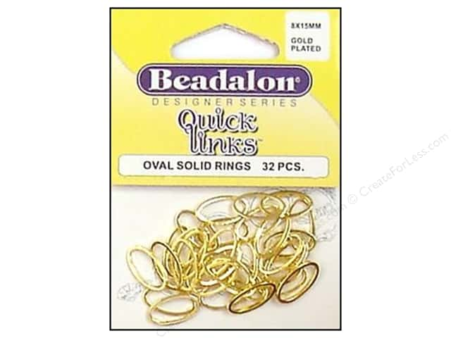 Beadalon Quick Links Oval 8 x 15 mm Gold Plated 32 pc.