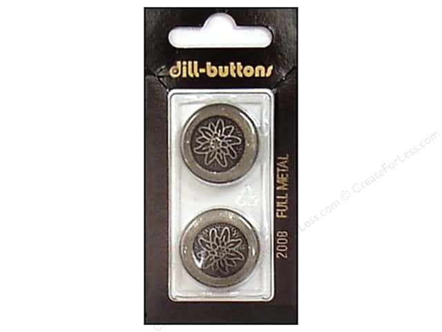 Dill Shank Buttons 7/8 in. Metal Antique Tin #2008 2pc.