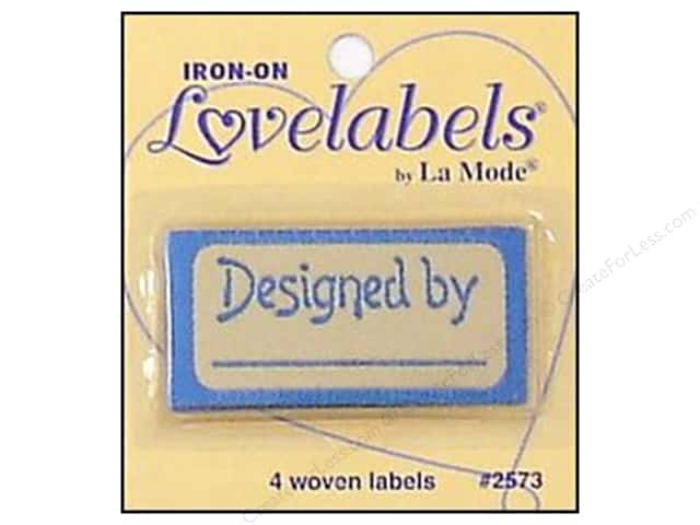 Blumenthal Iron-On Lovelabels 4 pc. Designed By Blue
