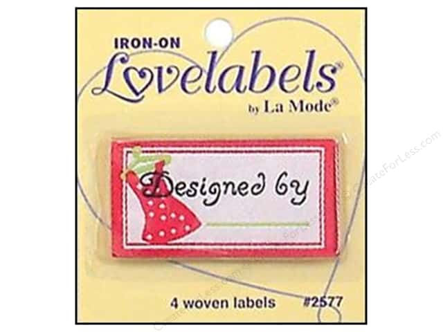 Blumenthal Iron-On Lovelabels 4 pc. Designed By Pink